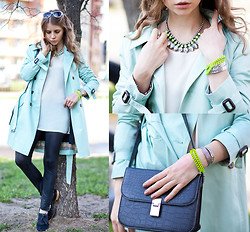 Anna Vershinina - Queen's Wardrobe Trench, H&M Necklace - Neon Shades