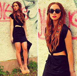 Lisa Olsson - Topshop Shoes, Topshop Dress, Gina Tricot Bag, Topshop Earrings, Lindex Sunglasses - URBAN SUMMER VIBES.