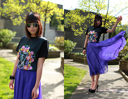 Shane Wu - Romwe T Shirt, Vintage Maxi Skirt - Summer is here officially