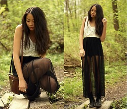 Cindy Le - Monki Lace Top, H&M Transparent Skirt, Second Hand Bag, Dr. Martens Boots - Standing where you left me
