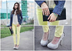 Lina Linadelika - Bally Blouse, Current Elliott Jeans, Asos Pumps - Coldplay - Violet Hill