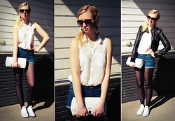 Enni A - Jc Blouse, Pull & Bear Shorts, Guess? Clutch, Converse Sneakers - Catch Me If You Can