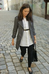 Diana On Stylepoetry - H&M Bag, Topshop Loafers, Monki Blouse - Brit Chic