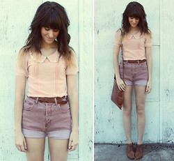 Tonya S. - Decorated Collar Blouse, Vintage Shorts, Vintage Shoes - Shades of Me