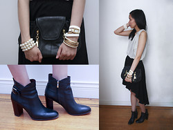 Jenn S - Tommy Hilfiger Blouse, American Rag Asymmetrical Skirt, Sam Edelman Boots, See By Chloé Purse, La Mer Wrap Watch, Forever 21 Jewellry - As I Am