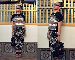 Miki Gumia - Sm Dept. Store Shirt, Urban Outfitters Printed Pants, Maze Satchel, So Fab Heels - Virtual mayhem