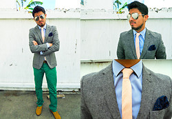 "Rodolfo Ramirez - Pocket Square Clothing Pink Tie, Pocket Square Clothing The Columnist - ""The Street Style Dandy"""