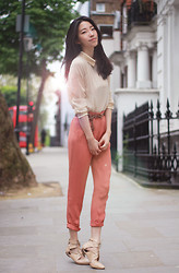 Evan L - Cos Tapered Peg Trouser - Nude Sunlight