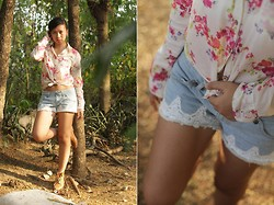 Virna Alyssa Cabuhat - Floral Top, Shorts With Lace - Flowers and Lace