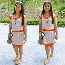 Nina Santos - From Singapore Bag, Flats - Tangerine Tango