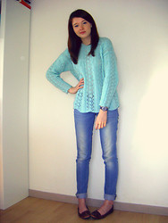 Coline H. - Vintage Sweater - Mint sweater