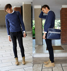 Alessandro M - Ralph Lauren Sweater, Fred Perry Bag - Smart.