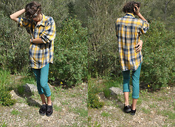 Clement Richard Berland - H&M Jewel/Necklace, Underground Creepers, Zara Blue Jeans - Look N° 7 , Toujours Dans Les Bois !