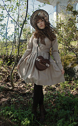 Ilona Leppänen - Vintage Dress, Angelic Pretty Purse, Ange Bonnet - From an other century