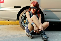 Janille Rose Olegario - Mint Cool Shades, Ring, Dr. Martens Boots - Like a boss.