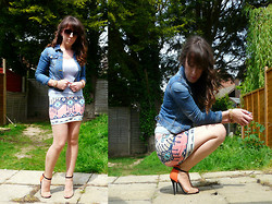 Annie M - Asos Sunglasses, Bershka Skirt, Gift From Spain Wrist Cuffs - Sunny Day! :)