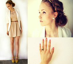 Petra Karlsson - Dress, Blazer, Shoes, Ring, Earring - Contrast