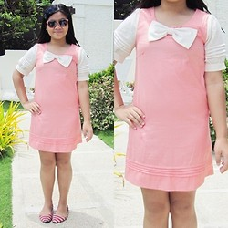 Nina Santos - Pink Dress, Forever 21 Sunnies, Forever 21 Headband, Vnc Flats - That pink dress