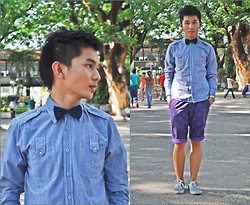 Chris Reyes - Company B Long Sleeves, Giordano Shorts, Sm Dept. Store Shoes, 168 Mall Bowtie - Child-ish :D (For Jah and Mary)