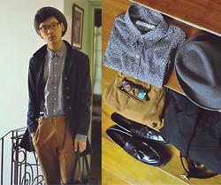 Jehan R. - Topman Floral Shirt, Topman Trousers, Thrifted Coat, Suspenders, Aldo Shoes - Won't you come see me, Queen Jane?