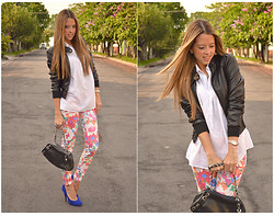 Raquel Cañas - H&M Jacket, Zara Floral Pants - ROCK THE FLOWERS