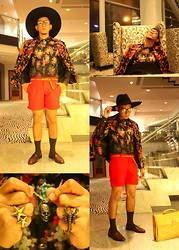 Yen Salamoding - Mogul Tailored, Zara Wide Brim, Oxygen Metal Skull, Vintage Croc Skin - Somebody That I Used To Know