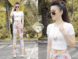Kirstyn Nguyen - Zara Pants, Topshop Top, D&G Sunglasses, Mango Necklace - ^^