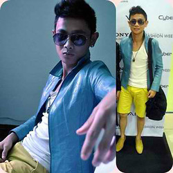 Rald Navarro - Tom Ford Vintage Eyeglass, Topman Yellow Short - Just Got Serious!!!