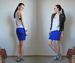 Eve T - Gina Tricot Skirt - Sporty blue