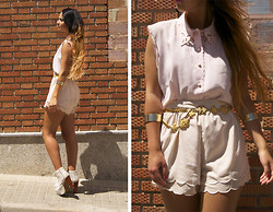 Eline Coolen - H&M Shorts, Vintage Blouse - Nothing makes a women more beautiful then the believe she is