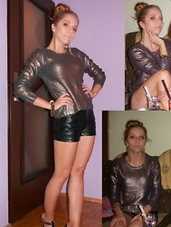 Michalina Kasprowicz - H&M Sweater, Lindex Shorts, Quazi Shoes, House Bracelet, House Earrings - Party with crazy girls ;)