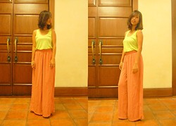 SalveeLangella Retuya - Forever 21 Neon Tank Top, Palazzo Pants - Lemon-y