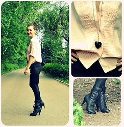 Little Audrey - Seconde Hand Shirt, Primark Leggins, Noname Shoes - NUDE for LOVE
