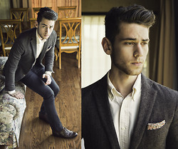 Edward Honaker - Ckc Jacket, Brooks Brothers Shirt, Paul Smith Pants, Bostonian Shoes, Topman Square - Seriously though