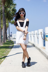 Joselin R - Asos Crop Top, Nasty Gal Suspender Skirt, Bc Shoes Creepers - We are young
