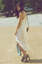 Jane Greenwich - Reformation Dress, Coach Purse, Pour La Victoire Shoes - Criss Cross.