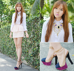 Camille Co - Pinkaholic Top, Vantan Manila Skirt, Extreme Finds Necklace - Peplum Is Back!