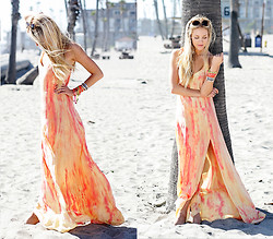 Shea Marie - Gypsy 05 Maxi Dress - Rainbow Sorbet