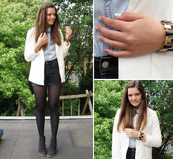 Denise * - H&M Blazer, H&M Bracelet, H&M Denim Blouse, H&M Shorts - Waterfall braid