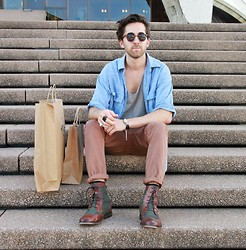 Raimundo Hernandez - Thrifted Shirt, Chronicles Of Never Singlet, Asos Chino, Asos Boots - ++ HARBOUR SIDE ++