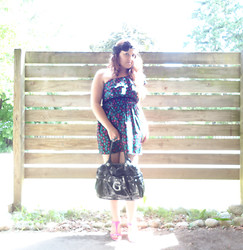 Livvia A. - Winners Burtterfly Dress, Forever 21 Bow Headband - Buetterfly fly