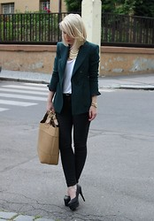 Ejvi S. - Zara Blazer, Zara Necklace, Zara Bag, Topshop Jeans, Shoes - More than it appeared