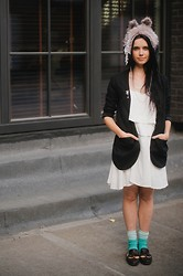 Agnese Kleina - Insight Dress, Insight Jacket, Uthahats Wolf Hat, Asos Loafers - Red Riding Hood had left