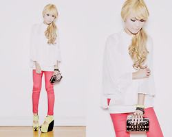 Tricia Gosingtian - Wedges, Clutch, Bracelet, Bayo Top, Bayo Pants - 052912-3