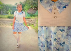 Star Agus - Sm Department Socks, Own Vintage Collection Dress, Sm Accesories Hair - School Girl