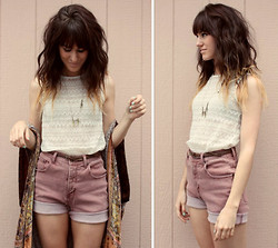 Tonya S. - Nordstrom Lace Tank, Diy Vintage Shorts - I'm A Wilde One Too