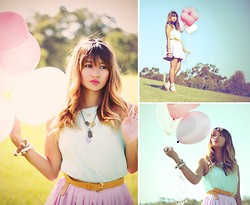 Natalie Leung - New Look Top, Beginning Boutique Skirt, Beginning Boutique Belt - A Day with Balloons