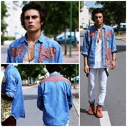 Kevin Andrade - Levi's® Shirt, Cheap Monday Jean - Purple haze
