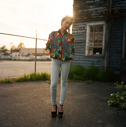 Michelle Zhang - Vintage Jacket, American Apparel Jeans, Jeffrey Campbell Shoes - Film photo
