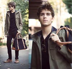 Adam Gallagher - River Island Bag, River Island Jacket - River Island
